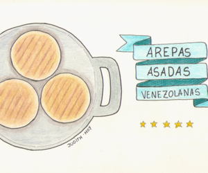 venezuela and arepas image