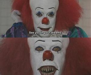 clown, it, and dreams image