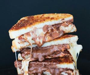 food, chocolate, and sandwich image