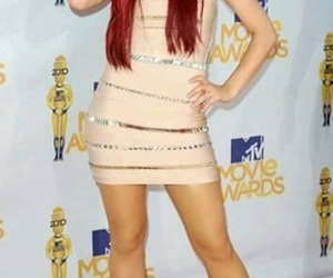 ariana grande, red hair, and dress image
