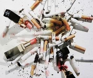 cigarette, chanel, and smoke image