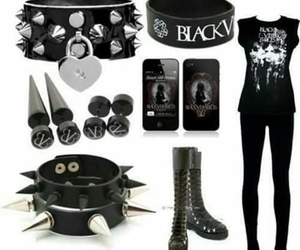 black, black veil brides, and bvb image