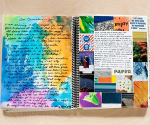 art, art journal, and colors image