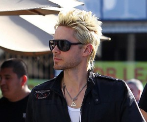 30 seconds to mars, blond hair, and jared leto image