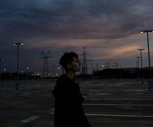 boy, grunge, and sky image