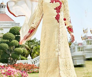 salwarsuit, straightdress, and bridalsalwarsuit image