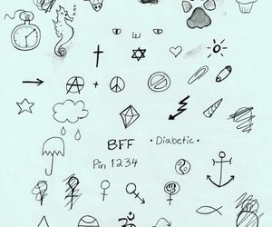 tatto, icono, and black image