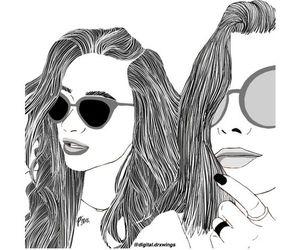 draw, girls, and illustration image