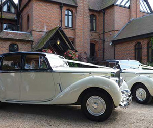 double decker bus hire, rolls royce wedding cars, and classic wedding cars image