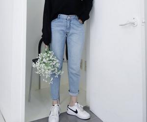 fashion, nike, and flowers image
