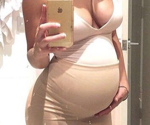 baby, mommy, and baby bump image