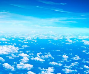 sky, blue, and clouds image