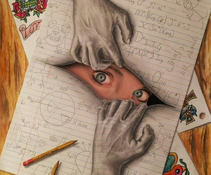 drawing, art, and eyes image