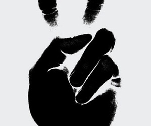 black, hand, and luck image
