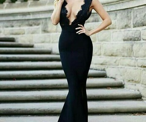 black, classy, and dress image