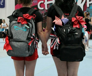 best friend, bows, and cheer image