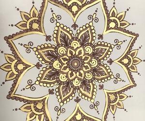 gold, mandala, and meditation image