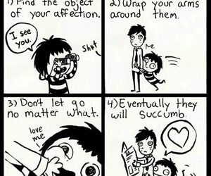 cuddle, funny, and lol image