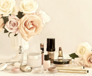 flowers, make up, and makeup image