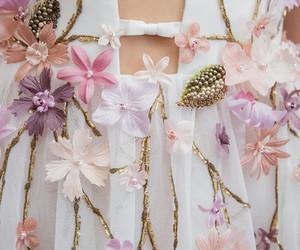 fashion, dress, and flowers image