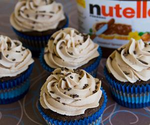 nutella, cupcake, and chocolate image