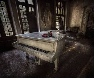 music, old, and piano image