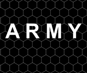 army, black, and blanco image