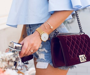 bag, bracelet, and chanel image
