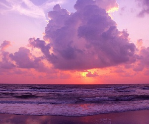 beach, sunset, and sky image