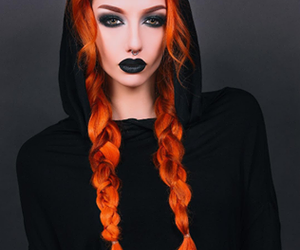 redhead, beauty, and dark image
