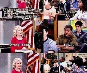 drake bell, funny, and teacher image