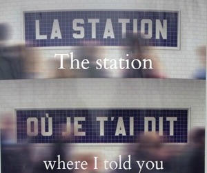 love, french, and station image