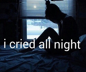 cry, tears, and night image