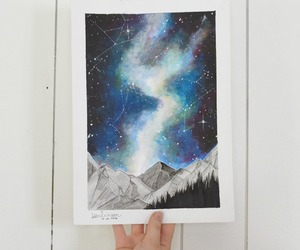 art, color, and stars image