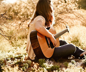 beautiful, girl, and music image