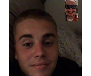 justin bieber, facetime, and post malone image