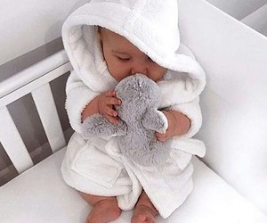 baby, cute, and white image