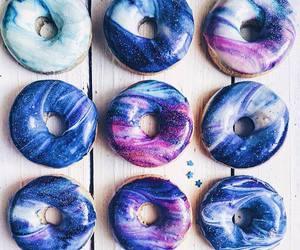 donuts, food, and galaxy image