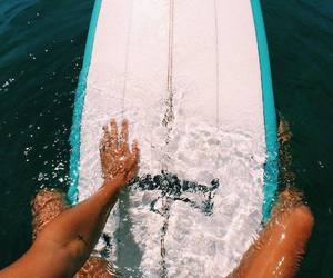 summer, surf, and beach image