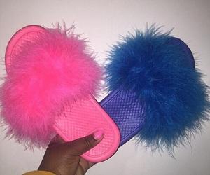 blue, pink, and slides image