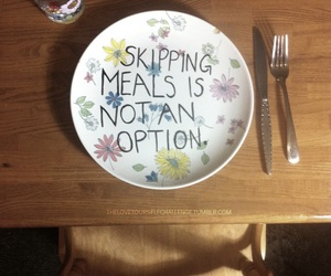 anorexia, food, and love quotes image