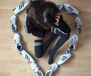 adidas, shoes, and sweaters image