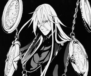 undertaker, black butler, and kuroshitsuji image