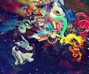 space, psychedelic, and colorful image