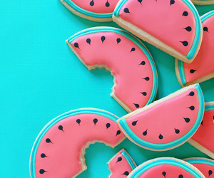 watermelon, Cookies, and food image