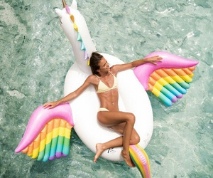 unicorn, summer, and bikini image