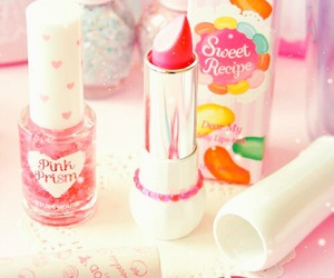 pink, lipstick, and make up image