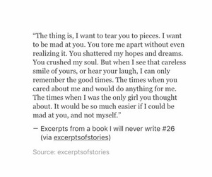 heartbroken, love quote, and quote image