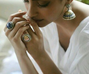 jhumkas, 💗, and white image