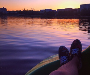 orange, relax, and river image